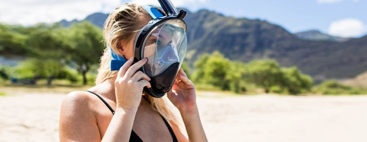 The Seaview 180° full face snorkel mask is a total game changer. It's tubeless design will help you snorkel without the hassle of biting down on a mouthpiece or