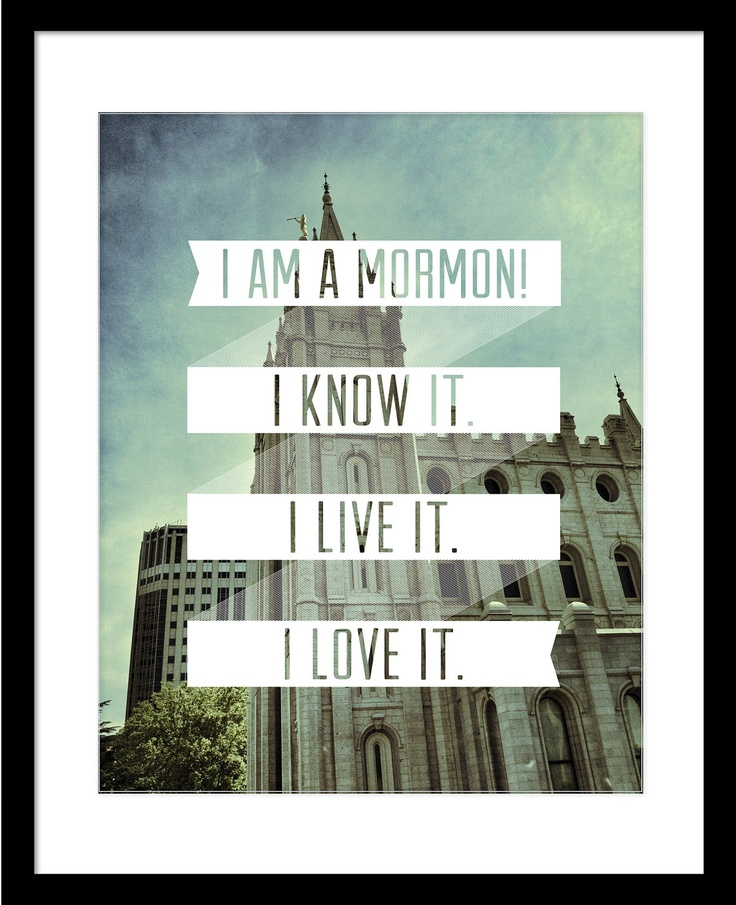 I am a Mormon LDS quote w/temple. $15.00, via Etsy.    Find more LDS inspiration at: www.MormonLink.com