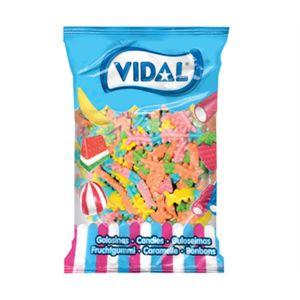 A 1kg bulk bag of Vidal Centipedes Lollies.