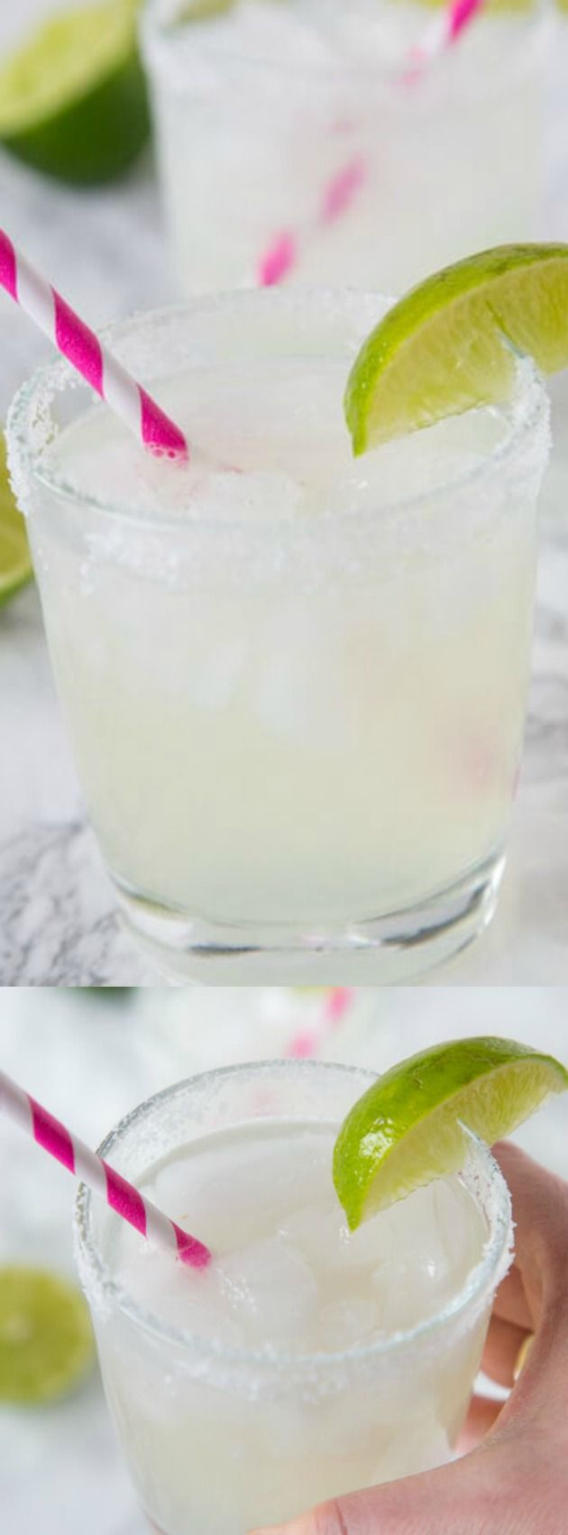 This Classic Lime Margarita on the Rocks from Dinners, Dishes, and Desserts is sweet, tart, and super refreshing. It is a great drink for summer parties or just because!
