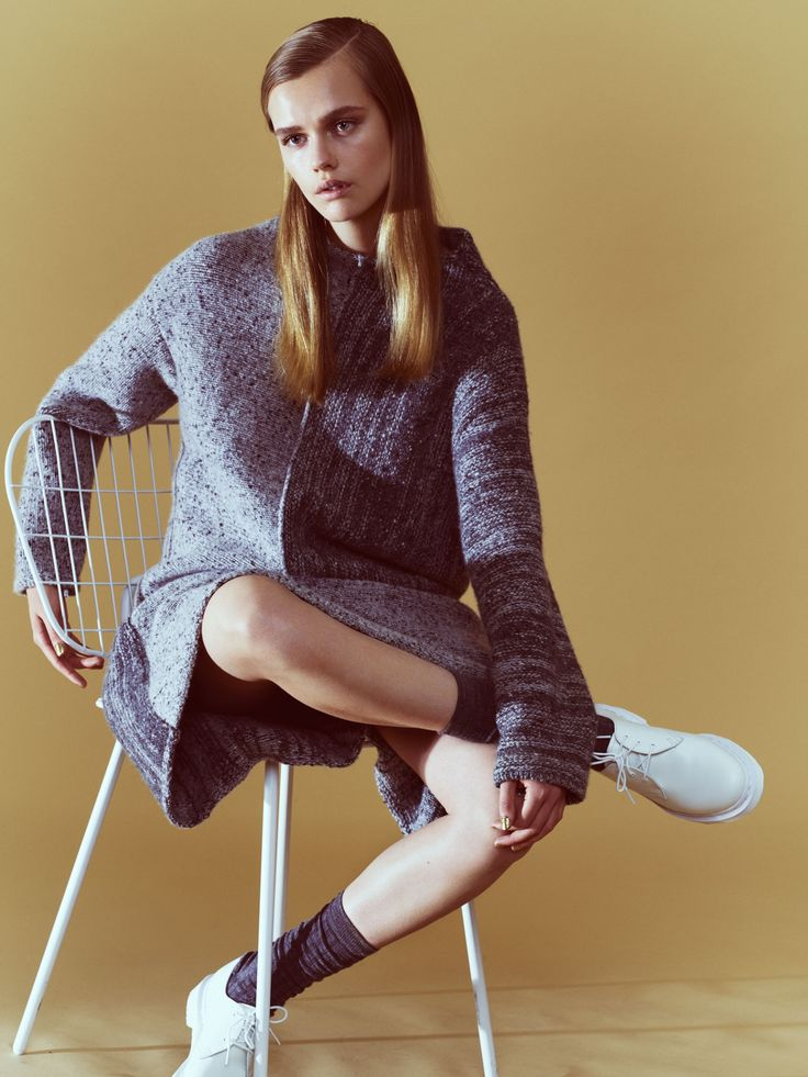 String Chair in Costume Magazine. styled by Maiken Winther Photographer Mikael Schulz Model Stina Rapp