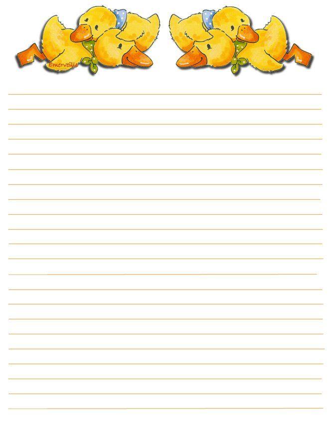 canardsjaunesjpg 660865 stationary printablewriting paperseaster - Printable Halloween Writing Paper