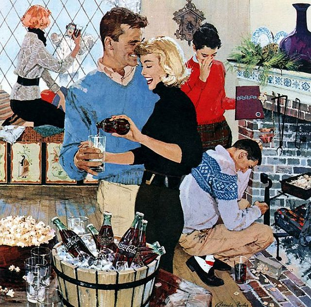 Coke ad 1957 by Bernie Fuchs