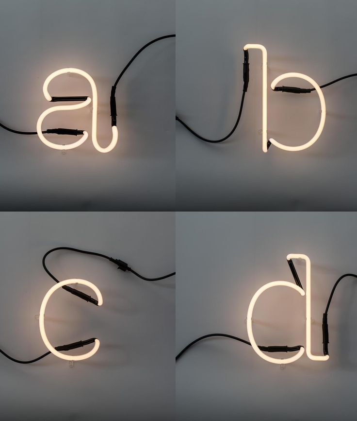 Design Your Own Lighting Neon Art Letters From A To M And Linkable Make