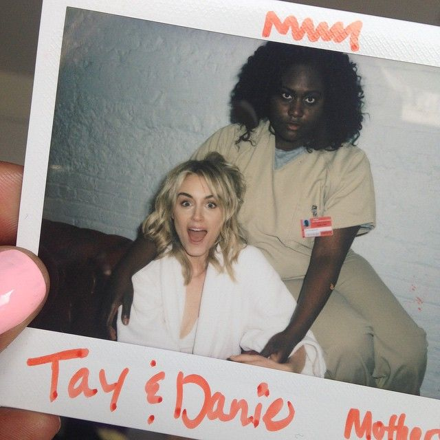 Orange is the New Black: Taylor Schilling and Danielle Brooks.