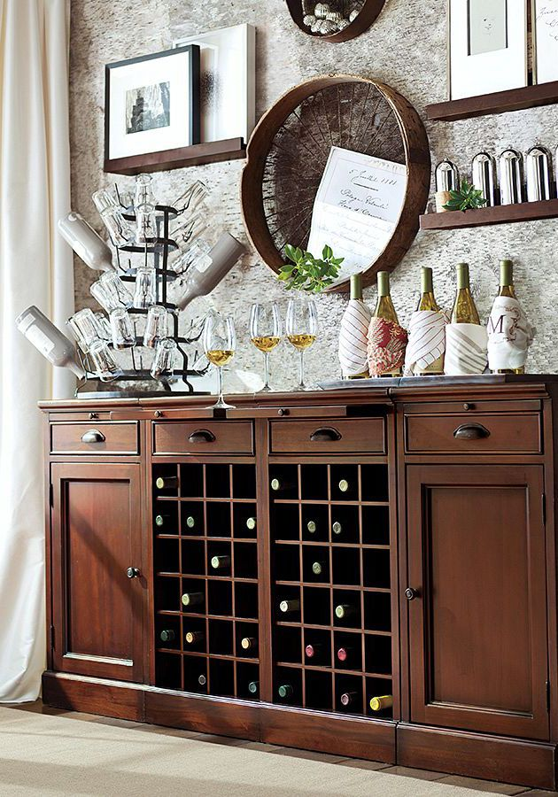 An easy way to setup a self-serve bar for #holiday entertaining.