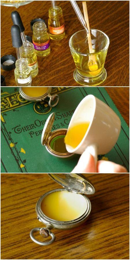 Awesome DIY Solid Perfume Pocket Watch Locket