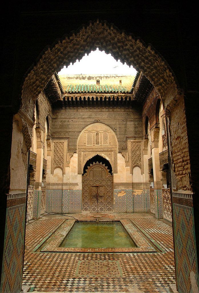 Ancient Courtyard . Morocco