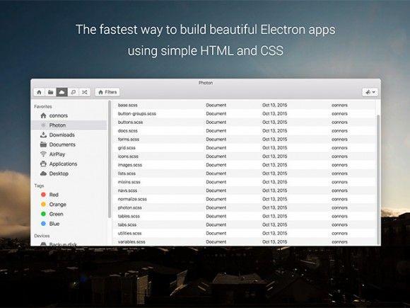 Photon – Desktop app framework