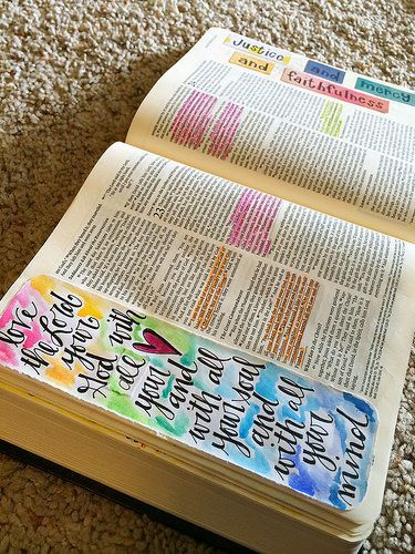 This is more the style of Journaling I have in mind if I ever owned a Journaling Bible (pic): contained to the margin. Bible Journaling Supplies {Pitter Patter Art}