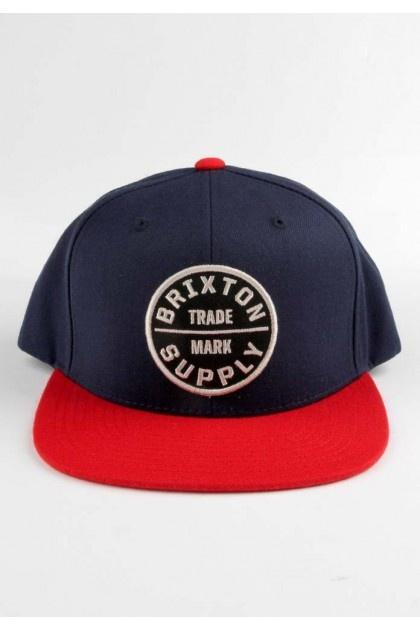 Brixton Clothing Oath III Snapback Hat - Navy/Red $28.00 #brixton