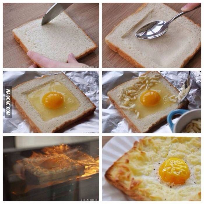 Bread And Eggs Easy And Quick Breakfast Idea Food Diy Recipes