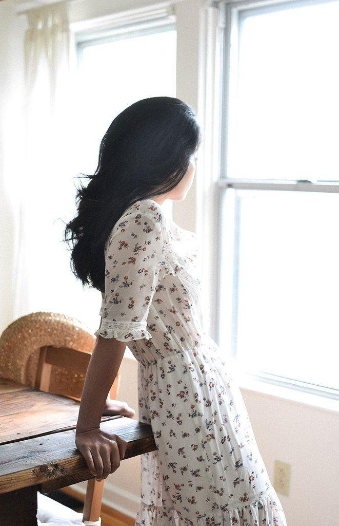 Clemence Dress / feminine romantic dresses / vintage modern dresses