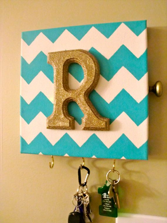 Personalized Monogram Canvas Key Holder/Alarm Cover.  I can make this!