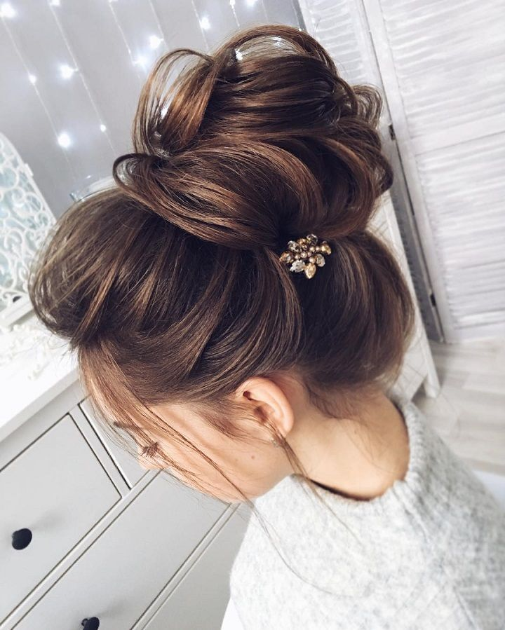 Bridal Hairstyles For Long Hair With Flowers : 25 best wedding hair buns ideas on pinterest low