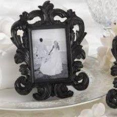 """Black Baroque"""" Elegant Place Card Holder Photo Frame"""