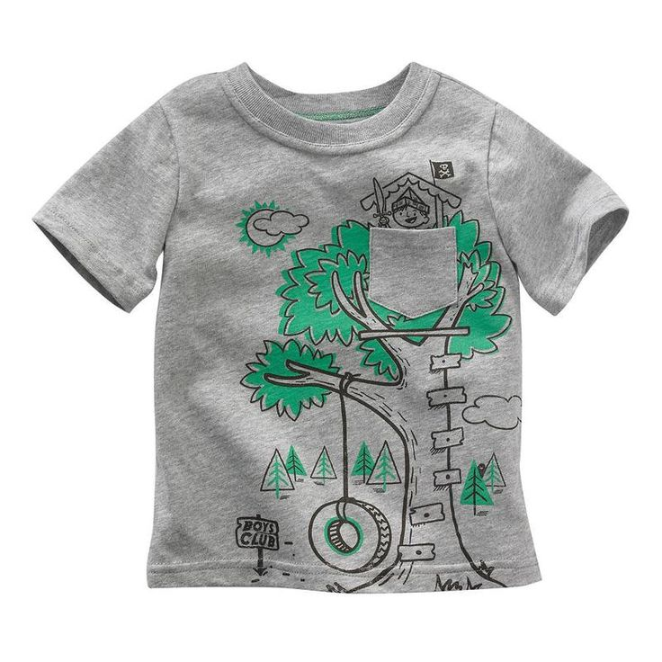 Jumping beans cotton kids baby infants boy short sleeve t-shirt boys club tee