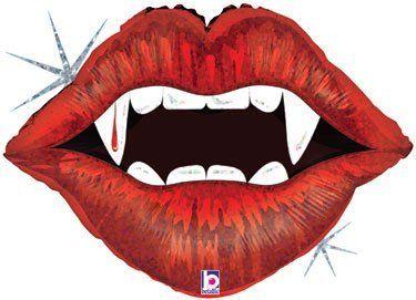"Vampire Teeth & Lips Halloween 30"" Mylar Balloon Large by Shindigz. $4.50. Sink your vampire teeth into this balloon on Halloween this year!"