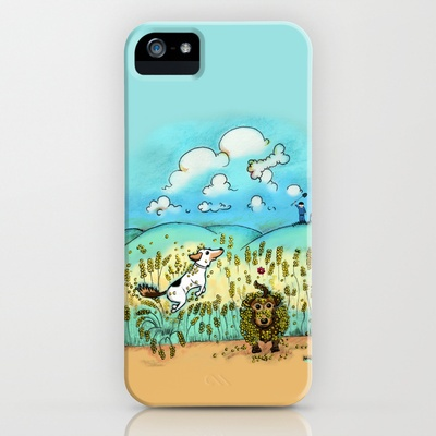 Mr Badger & Little Stitch iPhone Case by Mr Badger & Little Stitch - $35.00
