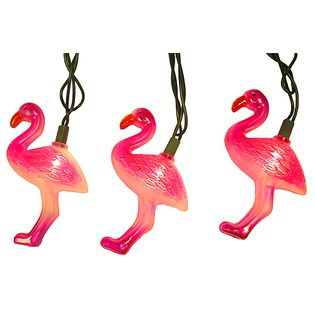Tropical Pink Flamingo Party Novelty Lights -