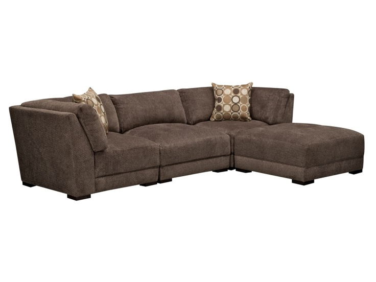 basement  West End Grey 4-PC Sectional - Value City Furniture $1200