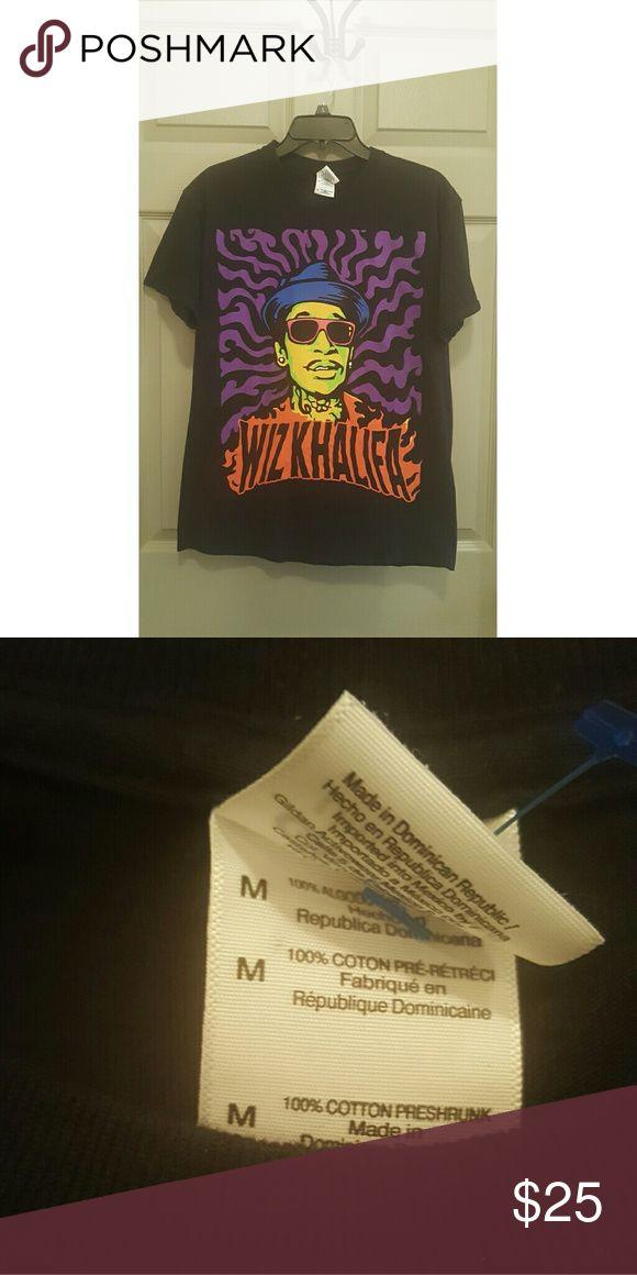 Wiz Khalifa T-shirt  (Unisex) - Sz M Just a cool T-shirt!  Women, jazz it up with a pair of pumps!! Gildan   Tops