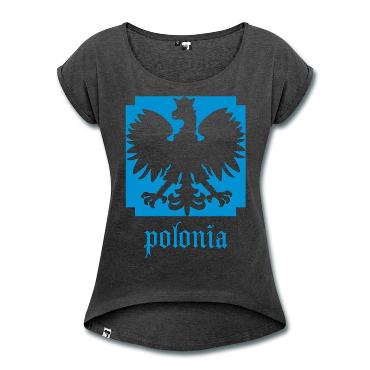 Polska Relax Shirt Women (Hellblau/Glatt] - Frauen T-Shirt mit gerollten Ärmeln  #polska #shop #polskashop #polskatshirt #polnischebekleidung #poloniastore #mypolonia #polonia #store