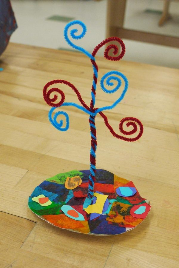 28 pipe cleaner tree http://hative.com/cool-pipe-cleaner-crafts/
