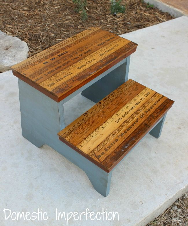 Kids Step Stool (with Yardstick Steps)