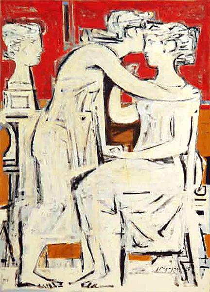 Μόραλης Γιάννης Τίτλος Έργου: Επιτύμβια σύνθεση,1958