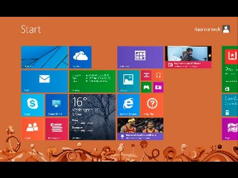 Windows 8 - How to bypass the Start screen and log straight to the desktop. - YouTube