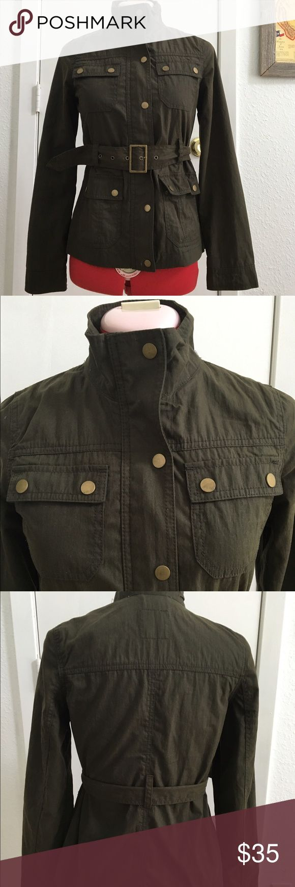 Old Navy Field Utility Jacket In excellent condition. Belted waist, snap buttons and zipper closure. Old Navy Jackets & Coats Utility Jackets