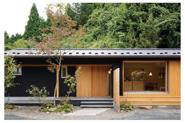 緑の中にしっとりと佇む コンパクトな平屋 さほらぼ by 佐保建設の建築実例 ステップハウス注文住宅