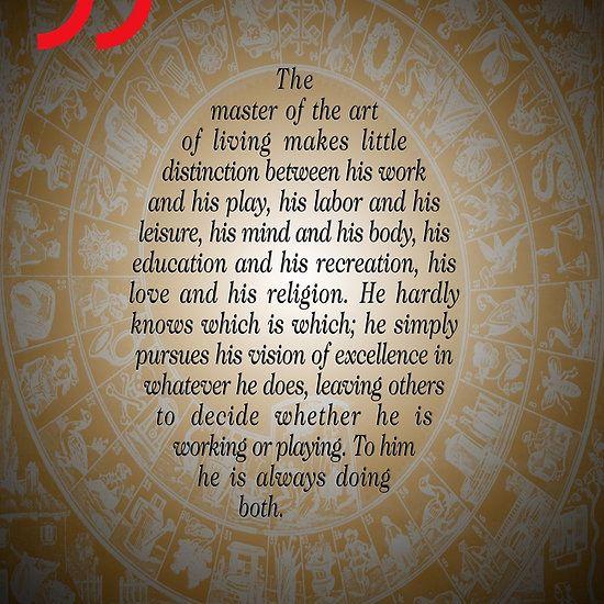 The Master of Art (Buddha's Quote)