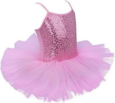 d5896648ae Freebily Maillot de Ballet Danza Vestido Algodón con Lentejuelas para Niña  (4-8 años