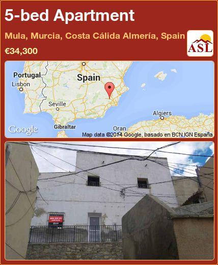 5-bed Apartment in Mula, Murcia, Costa Cálida Almería, Spain ►€34,300 #PropertyForSaleInSpain