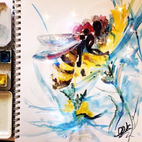 """Sono una """"piccola ape furibonda"""", mi piace cambiare di colore e di misura, mi piace vivere la vita come una grande tela, un'opera di teatro…, anche se questa dovesse perdere…"""