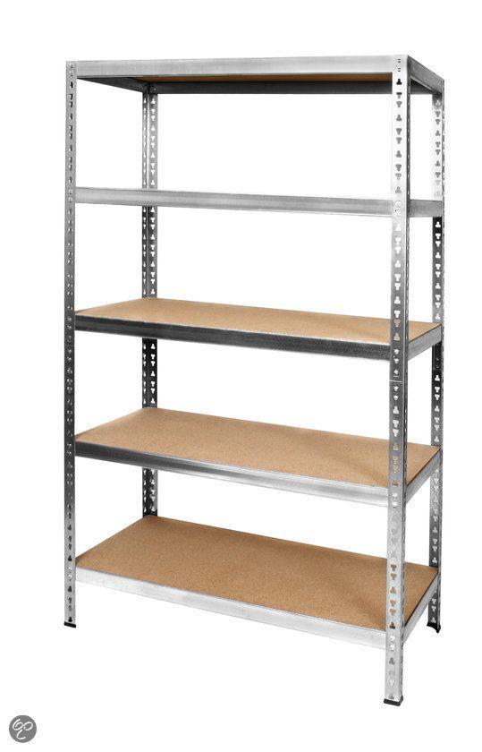 bol.com | Opbergrek Heavy Duty - Staal/Spaanplaat - Belastbaar tot 350 kg per plank...