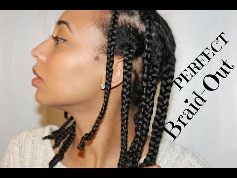 NATURAL HAIR  The PERFECT Braid Out! Super Defined ...