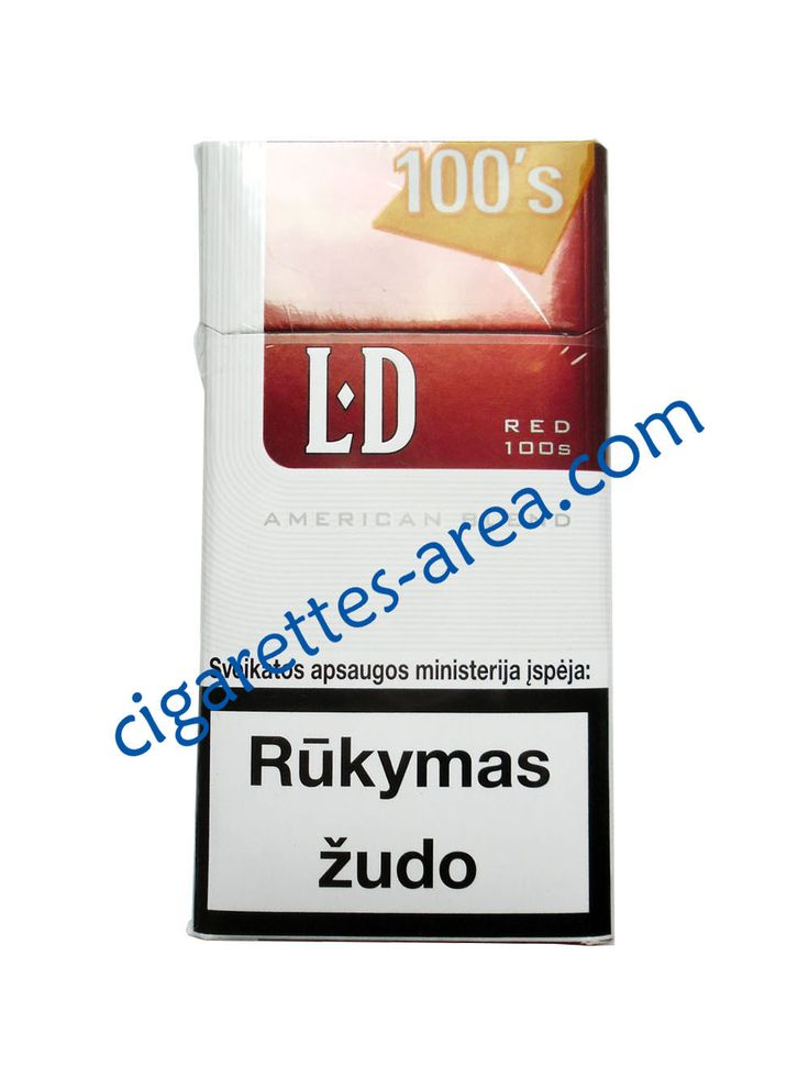 LD Red 100's cigarettes