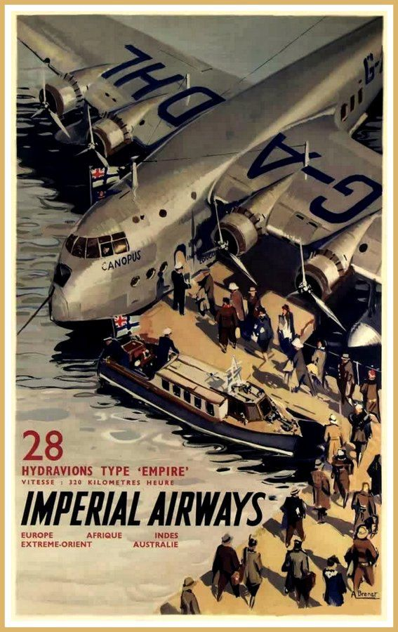 Imperial Airways Flying Boat 1920s 1930s  Print by BloominLuvly