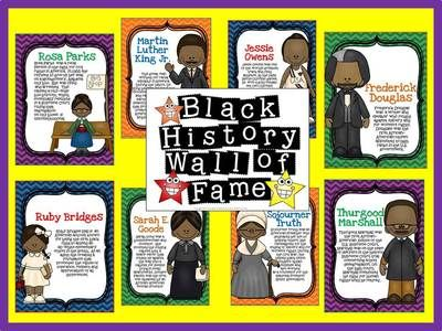 Black History Wall of Fame Bulletin Board from The Bulletin Board Lady on TeachersNotebook.com -  (18 pages)  - This display is great for Black History Month, but can be used year round to celebrate these famous African-Americans. This kit contains 11 people with short biographies.