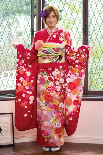 Modern #furisode #kimono