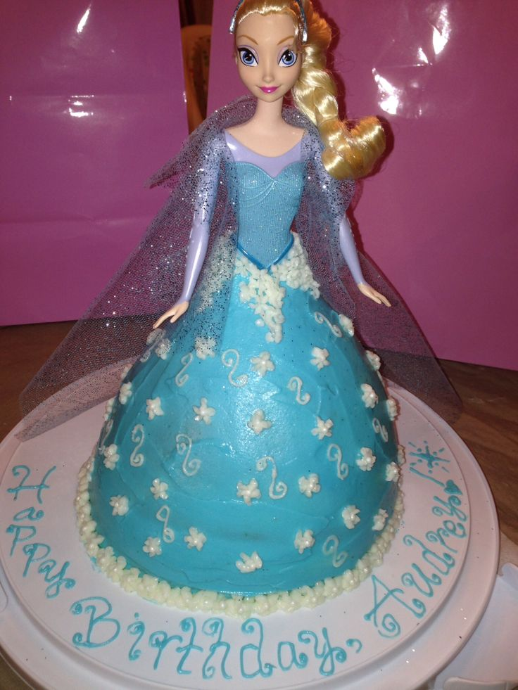 Elsa Doll Cake Images : Elsa doll cake Birthday cakes Pinterest Elsa doll ...