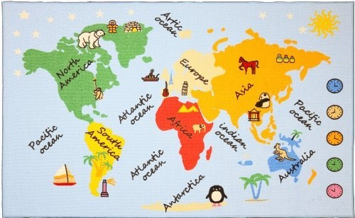 Continents and oceans, Kids rugs and Continents on Pinterest