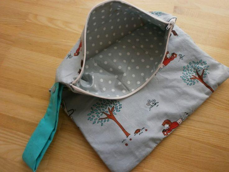 Wetbag selbst nähen - wasserdichte Tasche für Windeln, nasse Schwimmsachen oder schmutzige Sportkleidung