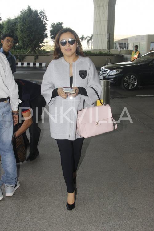 Rani Mukerji flashes her million dollar smile at the airport