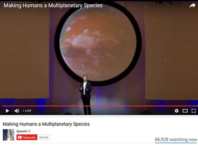 Elon Musk gives keynote to 67th  International Astronautical Congress (2016) on Making Humans a Multiplanetary Species