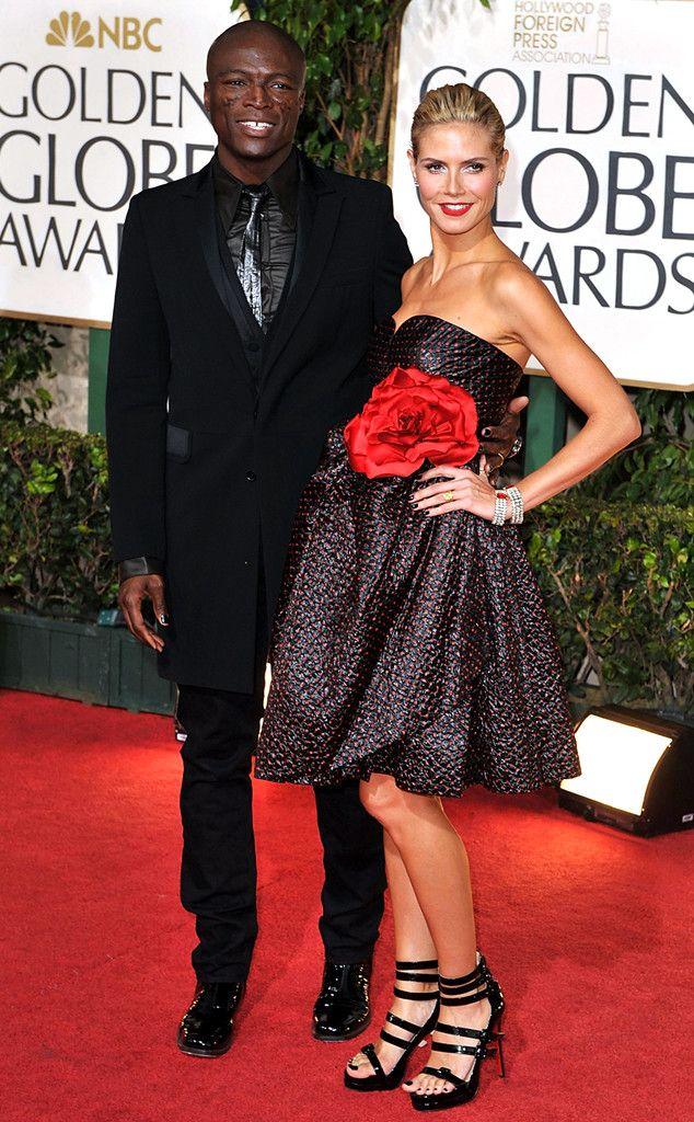 Flashback: Couples at the Golden Globes, Heidi Klum, Seal. Looove this dress!, JD
