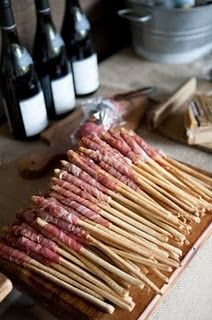Wine & Cheese Party ~ so easy ~ proscuitto wrapped…